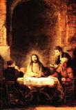 Rembrandt Christ in Emmanus Art Print Poster Masterprint