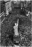 New York City Times Square Crowd Cheers German Surrender Archival Photo Poster Print Posters