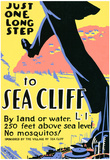 Sea Cliff Long Island NY Tourism Travel Vintage Ad Poster Print Print