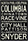 Philadelphia Broad Street Line Stations RetroMetro Poster Foto