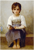 William-Adolphe Bouguereau The Difficult Lesson Art Print Poster Poster