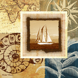 Sailing the Seas I Print by Michael Marcon