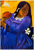 Paul Gauguin Woman with Mango Art Print Poster Posters