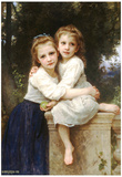 William-Adolphe Bouguereau Two Sisters Art Print Poster Prints