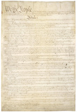 U.S. Constitution (First Page) Art Poster Print Posters
