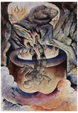 William Blake (The Pope simonistische) Art Poster Print Posters