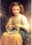 William-Adolphe Bouguereau Child Braiding A Crown Art Print Poster Masterprint