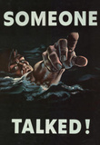 Someone Talked WWII War Propaganda Art Print Poster Masterprint