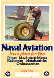 Naval Aviation Has a Place for You WWII War Propaganda Art Print Poster Print