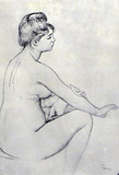 Pierre Auguste Renoir Bather Art Print Poster Masterprint