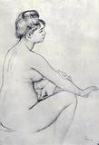 Pierre Auguste Renoir Bather Art Print Poster Masterprint