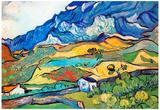 Vincent Van Gogh Les Alpilles a Mountain Landscape near Saint-Remy Art Print Poster Poster