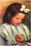 Pierre Auguste Renoir A Reading Girl Art Print Poster Photo