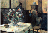 Paul Gauguin Interior of Painter of Rue Carcel Art Print Poster Print