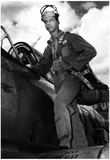 Tuskegee Airman with Plane Archival Photo Poster Prints