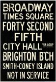 New York City Times Square Broadway Vintage Subway RetroMetro Poster Posters