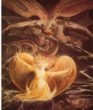 William Blake (The great red dragon and the woman clothed with the sun) Art Poster Print Masterprint