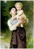 William-Adolphe Bouguereau Brother And Sister Art Print Poster Prints