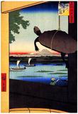 Utagawa Hiroshige Mannen Bridge Art Print Poster Plakater