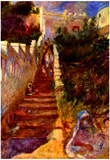 Pierre Auguste Renoir Stairs in Algier Art Print Poster Plakater