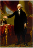 President George Washington Standing Historical Art Print Poster Photo