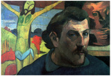 Paul Gauguin Self Portrait with Yellow Christ Art Print Poster Poster