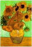 Vincent Van Gogh Still Life Vase with Twelve Sunflowers 3 Art Print Poster Photo