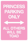 Princess Parking Only No Parking Pink Sign Poster Print Masterprint