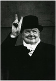 Winston Churchill V For Victory Archival Photo Poster Print Photo