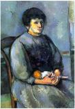 Paul Cezanne Woman with Doll Art Print Poster Prints