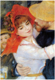 Pierre Auguste Renoir Dance in Bougival Detail Art Print Poster Prints