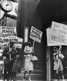 School Segregation Protestors Archival Photo Poster Print Masterprint