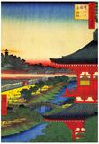 Utagawa Hiroshige Zojoji Pagoda Art Print Poster Posters