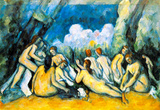 Paul Cezanne Large Bathers by Art Print Poster Masterprint