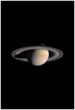 Saturn (From Space) Art Poster Print Posters