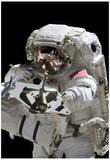 NASA Astronaut Michael Fincke at International Space Station Photo Poster Print