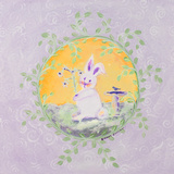 Spring Bunny II Posters by Karen Lucchese