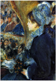 Pierre Auguste Renoir At the Theatre Art Print Poster Prints