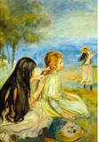 Pierre Auguste Renoir Girls by the Seaside Art Print Poster Masterprint