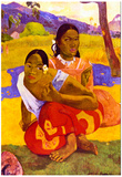 Paul Gauguin When Are You Getting Married Art Print Poster Posters