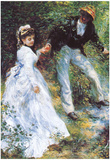 Pierre Auguste Renoir The Walk Art Print Poster Prints