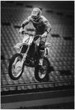 Motocross Archival Photo Poster Print Póster