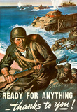 Ready for Anything Thanks to You WWII War Propaganda Art Print Poster Masterprint