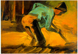 Vincent Van Gogh Peasant Digging Art Print Poster Print