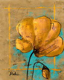 Golden Artistic Poppy II Posters by Patricia Quintero-Pinto