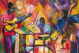 Jazz Trio Prints by Everett Spruill
