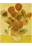 Vincent Van Gogh (Still life with sunflowers) Art Poster Print Posters