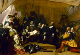 The Embarkation of the Pilgrims Historic Art Print Poster Masterprint