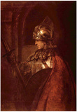 Rembrandt Harmensz. van Rijn (Man with arms (Alexander the Great)) Art Poster Print Póster
