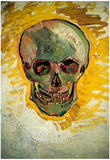 Vincent Van Gogh Skull Art Print Poster Photo